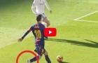 Không mang giày, Lionel Messi vẫn kiến tạo như đặt cho Aleix Vidal