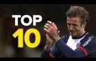 10 khoảnh khắc đáng nhớ của David Beckham