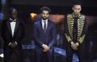 Mane và Aubameyang buồn rầu nhìn Salah nhận giải Cầu thủ hay nhất châu Phi 2017
