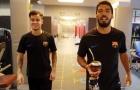 Coutinho như hình với bóng bên cạnh Suarez tại Barcelona