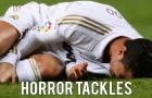 10 lần Cristiano Ronaldo bị triệt hạ ghê rợn