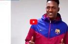 Yerry Mina không chút bỡ ngỡ trong ngày đầu đến Camp Nou