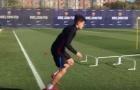 Coutinho bùng nổ trên sân tập của Barcelona