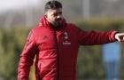 Gattuso mặt đầy cau có trong ngày trở lại Milan