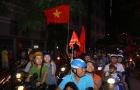 NHM đổ ra đường ăn mừng chiến tích lịch sử của U23 Việt Nam