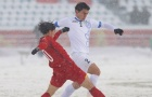 Rustamjon Ashurmatov mở tỷ số cho U23 Uzbekistan (U23 Việt Nam 0-1 U23 Uzbekistan)