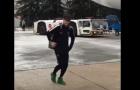 Neymar phấn khích trong ngày trở lại Tây Ban Nha