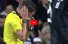Trọng tài choáng váng vì lãnh trọn cú sút của Neymar