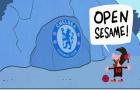 Hí họa Messi tìm ra thần chú mở cửa vào khung thành Chelsea