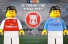Thất bại của Arsenal trước Man City theo phong cách Lego