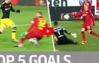 Top 5 bàn thắng đẹp nhất vòng 25 Bundesliga