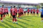 CLB Long An ráo riết tập luyện chờ ngày khởi tranh giải Hạng Nhất 2018