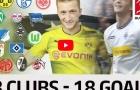 18 bàn thắng của Marco Reus vào lưới 18 CLB ở Bundesliga