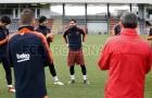 Messi đã xuất đầu lộ diện trên sân tập Barcelona