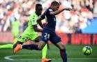 Mbappe lập cú đúp giúp 10 người PSG đánh bại Angers