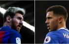 Sau cùng, Hazard vẫn quá nhỏ bé so với Messi