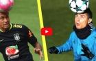 Neymar đọ kĩ thuật với Cristiano Ronaldo