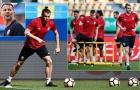 Giggs khiến Bale mệt nhoài ở buổi tập đầu của xứ Wales
