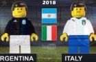 Chiến thắng của Argentina trước Italia theo phong cách Lego