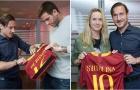 Vừa tới Rome, Del Potro đã được đích thân Totti ra đón
