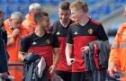 Tuyển Bỉ gặp khó với cặp đôi Hazard và De Bruyne
