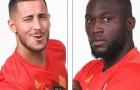 Lukaku tạo dáng cực ngầu bên cạnh Hazard