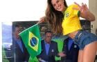 Cựu thiên thần nội y khoe dáng cổ vũ đội tuyển Brazil