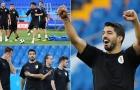 Cười tươi trên sân tập Uruguay, Suarez tạm quên đi khởi đầu tệ hại