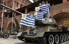 CĐV Uruguay cưỡi xe tăng đe dọa tuyển Pháp trước giờ G