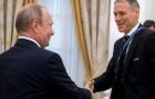 Giữa lúc Nga - Hà Lan căng thẳng, Van Basten công khai gặp gỡ Putin