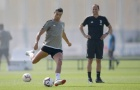 Allegri lặng lẽ mỉm cười ngắm Ronaldo tập luyện