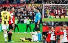 Robin van Persie ghi bàn đẳng cấp rồi bị đuổi khỏi sân chưa đầy 5 phút