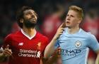 Đội hình kết hợp Liverpool vs Man City: Gạch tên Mo Salah & De Bruyne