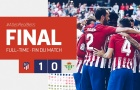 Siêu dự bị lóe sáng, Atletico Madrid tạm chiếm ngôi đầu