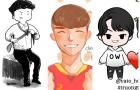 Đáng yêu hết cỡ với loạt tranh chibi về tuyển Việt Nam