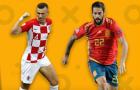02h45 ngày 16/11, Croatia vs Tây Ban Nha: Tự định đoạt số phận
