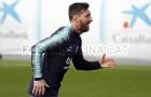 Messi hưng phấn sau khi vượt qua Ronaldo