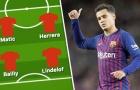 Có Coutinho, Man Utd vận hành với sơ đồ nào?