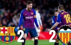 Highlights: Barcelona 2-2 Valencia (La Liga)