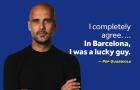 Pep đưa ra câu trả lời về 2 danh hiệu Champions League cùng Barca