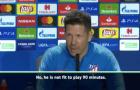 Atletico Madrid đón nhận tin không vui trước đại chiến Juventus