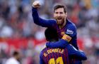 Hóa 'thánh' sau sai lầm, Messi đưa Barca ngược dòng tại Sanchez Pizjuan