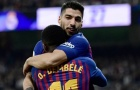 Hành động 'khó đỡ' của Suarez sau khi El Clasico kết thúc