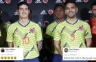 Áo đấu mới của Colombia bị chê bai là 'rác rưởi'
