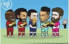 Biếm họa: Solskjaer hút 'trà sữa'; Griezmann chọn Messi hay Neymar?