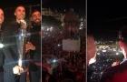 Hàng nghìn CĐV BĐN đổ ra đường chào đón Ronaldo và đồng đội
