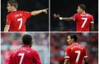 Lộ thống kê 'kinh hoàng' của các số 7 Man Utd thời hậu Ronaldo