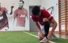 Tân binh Man Utd tập luyện điên cuồng trước ngày gặp Solskjaer