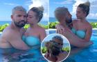Thư giãn bên bể bơi, Aguero tình tứ với bạn gái trẻ bốc lửa