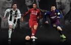 UEFA công bố 3 ứng viên 'Xuất sắc nhất mùa': Ai cản được Messi và Ronaldo?